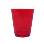 Acrylic Translucent Shot Glass - Red